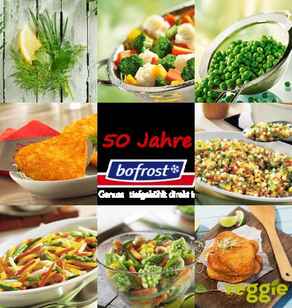 50 Jahre Bofrost - Veggie - vegane Gerichte bei Bofrost