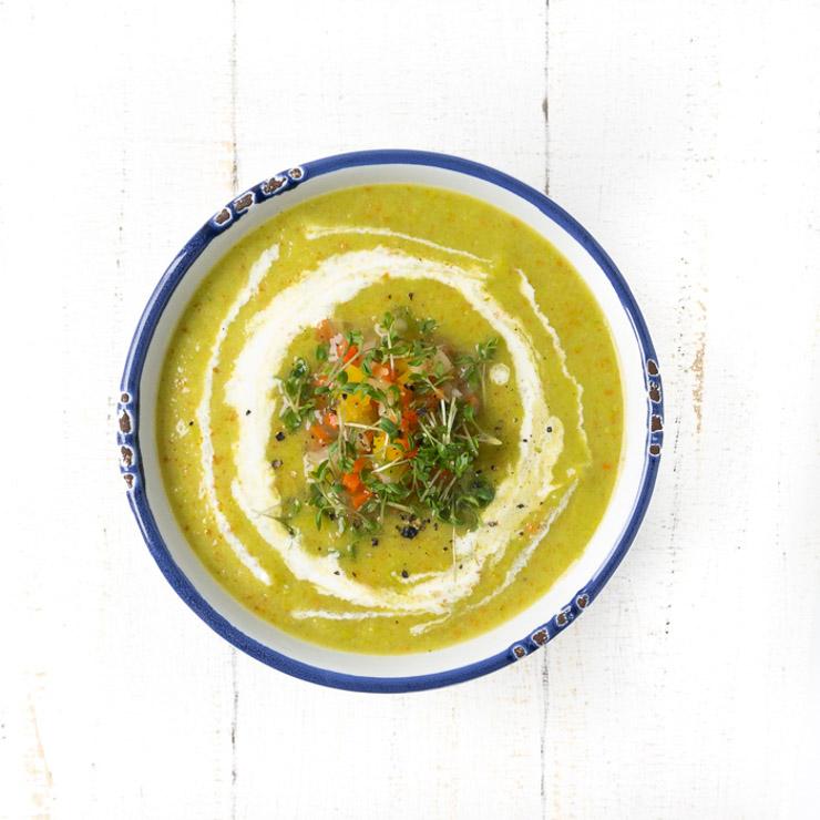 Erbsen-Suppe mit Boullion-Gemüse - The Vegetarian Diaries