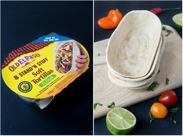 vegane Tortilla-Schalen von Old El Paso - vegan gefüllt - The Vegetarian Diaries