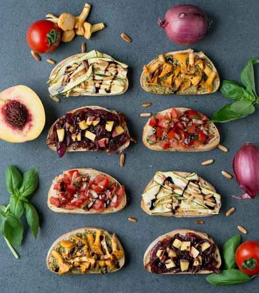 vegane Bruschetta - Rezept vier Varianten - The Vegetarian Diaries