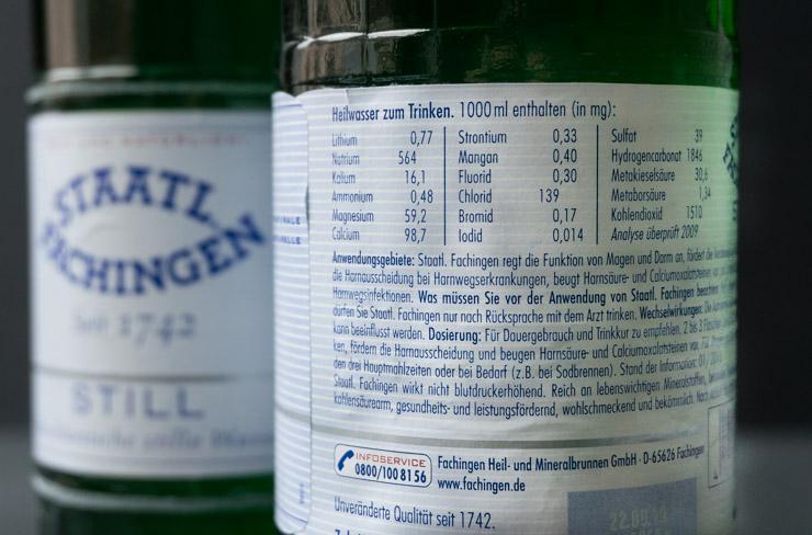 Staatl. Fachingen Heilwasser - Inhaltsstoffe - The Vegetarian Diaries