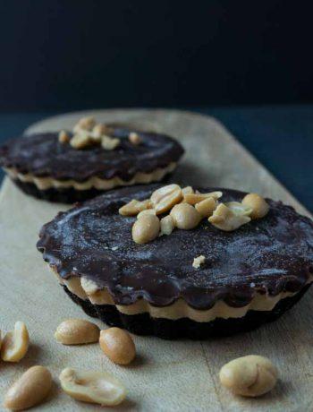 Schokoladen-Erdnussbutter-Oreo Tartelettes - The Vegetarian Diaries