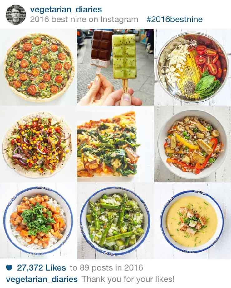 BestNine .- Instagram - The Vegetarian Diaries