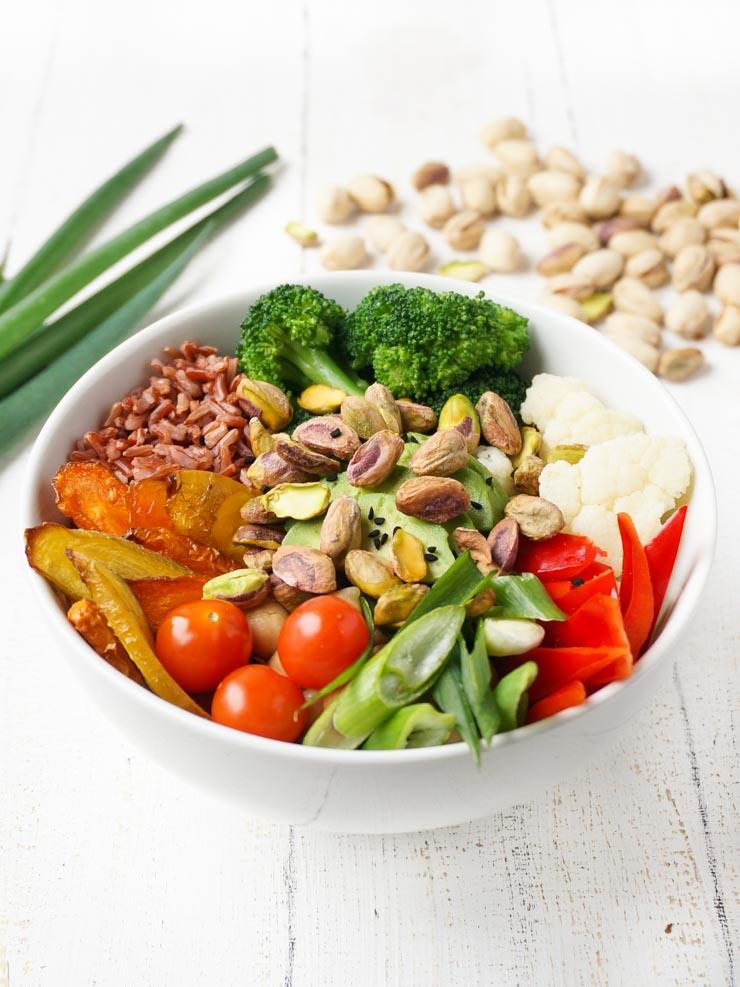 Rezept für eine gesunde Bowl mit Pistazien - The Vegetarian Diaries