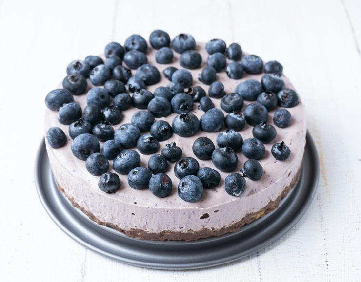 No-Bake Acai Heidelbeer-Torte - Rezept - The Vegetarian Diaries