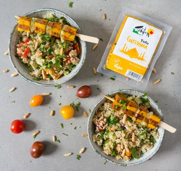 Salat mit Tofu Curcuma - The Vegetarian Diaries