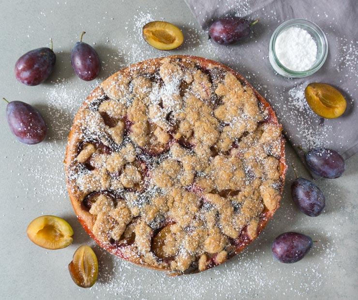 veganer Zwetschgenkuchen mit Mohn - The Vegetarian Diaries