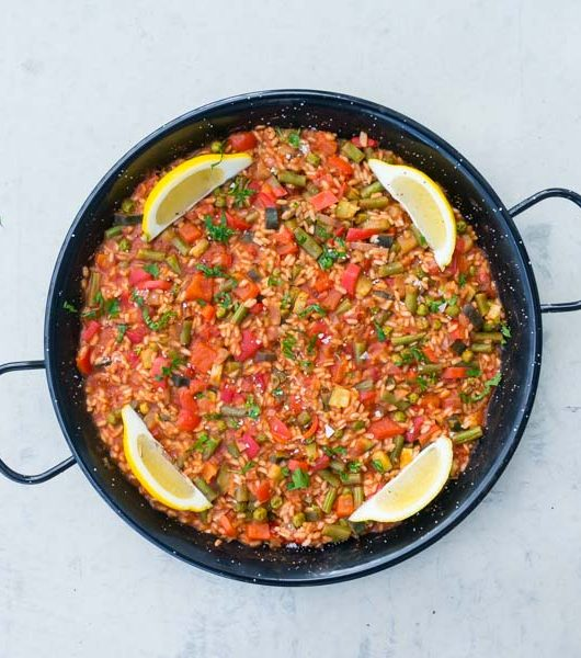 vegane Paella mit Gemüse - The Vegetarian Diaries