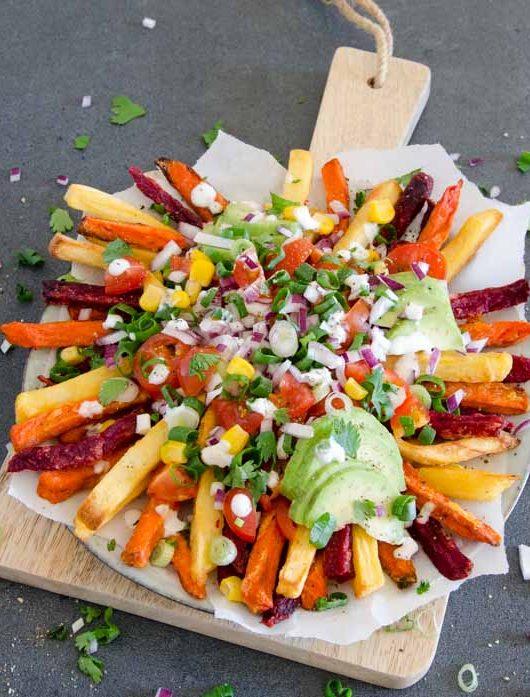 Gemüse-Pommes mit gesundem Topping - The Vegetarian Diaries