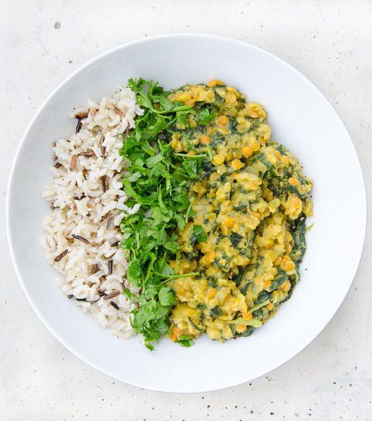 schnelles und einfaches Linsen-Curry - The Vegetarian Diaries