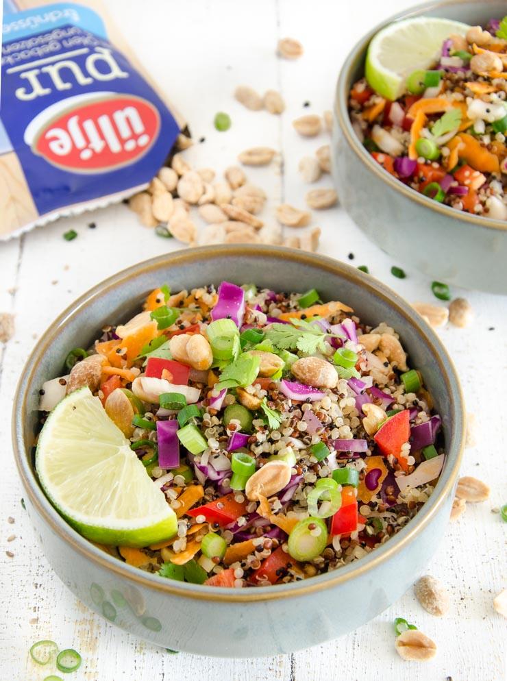 Quinoa-Salat mit ültje Erdnüssen - The Vegetarian Diaries