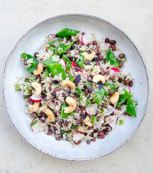 Reissalat mit Azukibohnen und Gemüse - The Vegetarian Diaries