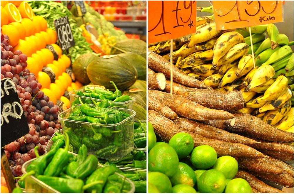 vegan einkaufen in Barcelona - La Boqueria