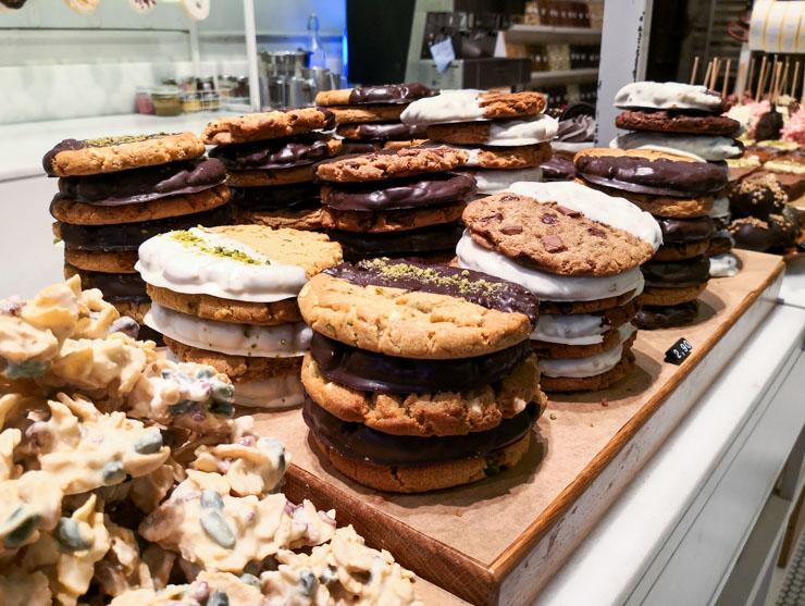 vegan essen in Barcelona - Donuts, Muffins bei Chök