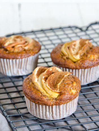 vegane Apfel-Bananen-Muffins - The Vegetarian Diaries