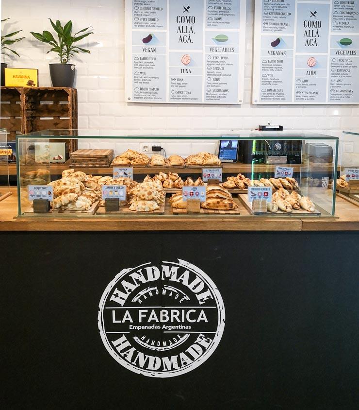 vegane Empanadas in Barcelona - La Fábrica