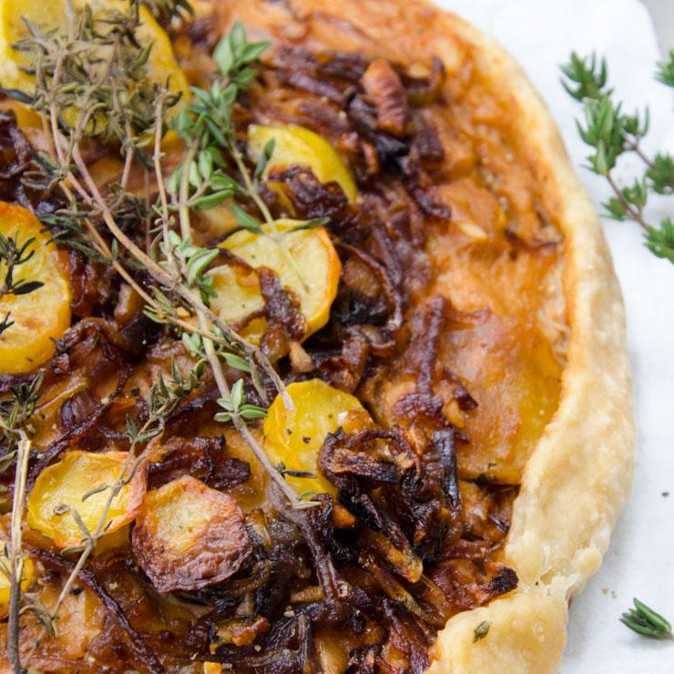 Kartoffel Zwiebel Galette - The Vegetarian Diaries