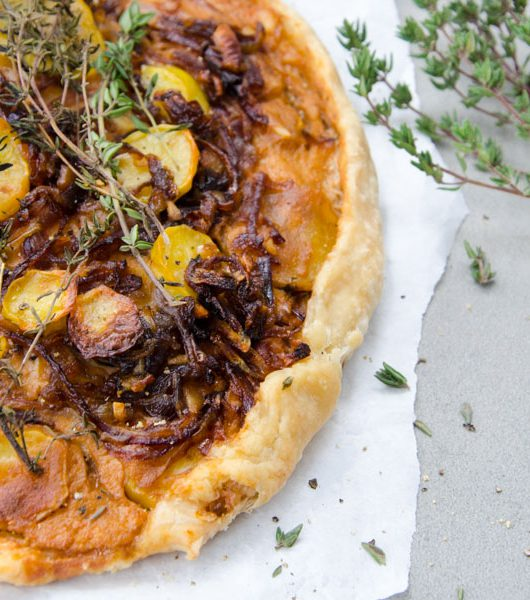 Kartoffel-Zwiebel Galette - The Vegetarian Diaries