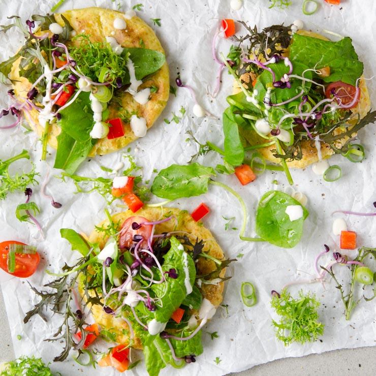 Kartoffelpizza mit Cashewdip - The Vegetarian Diaries