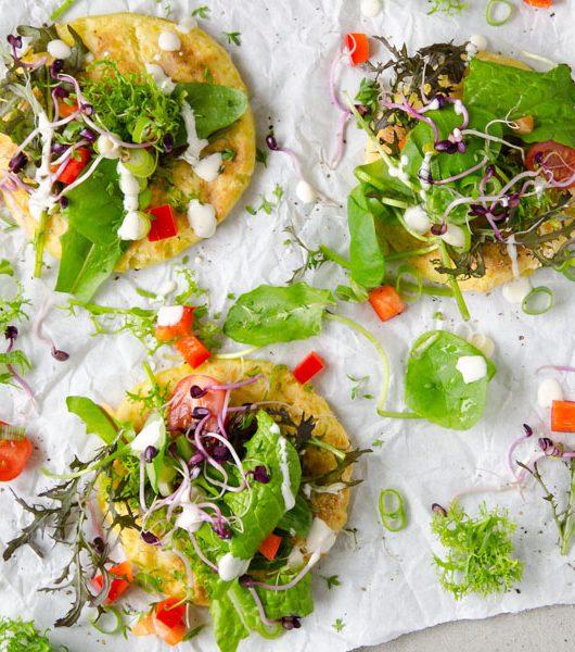 vegane Kartoffelpizza mit Cashewdip - The Vegetarian Diaries