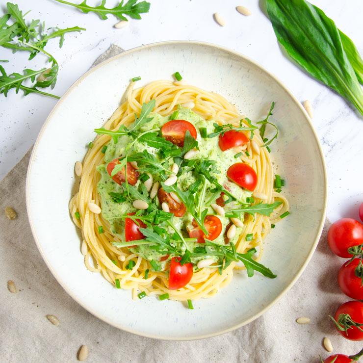 schnelle Bärlauch-Pasta - The Vegetarian Diaries